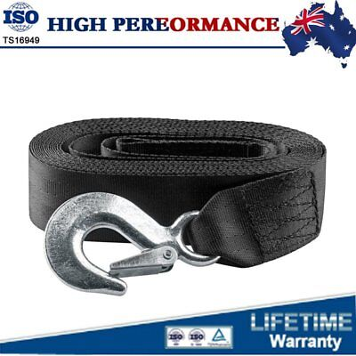 """Heavy Duty Deluxe Boat Trailer Replacement Winch Strap 2"""" x20' With Snap Hook AU"""