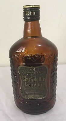 Black Bottle Brandy Hardys Rare 750ml Empty Bottle Man Cave Very Good Condition