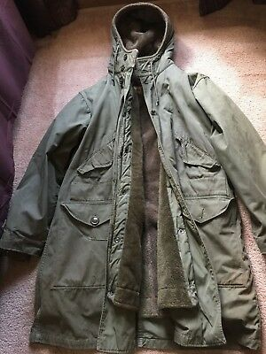 WWII 1945 Shapiro Military Army Heavy Winter Hooded Parka Jacket Pile Lining M