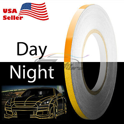 Orange Reflective Tape Safety Self Adhesive Striping Sticker 150FT Roll 1Cm