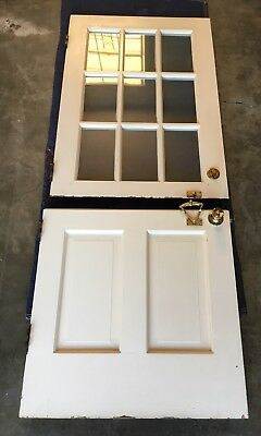 Vintage Solid Wood Dutch Door 9 Lite
