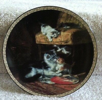 "Feline Fancy ""Young Adventures"" Victorian Collector Plate Cat/Kitten 1993 Number"