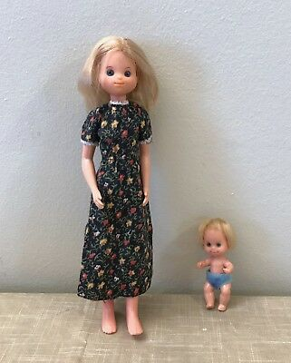 1973 Mattel SUNSHINE FAMILY Mom and Baby ONLY! VGUC marked TAIWAN Vintage