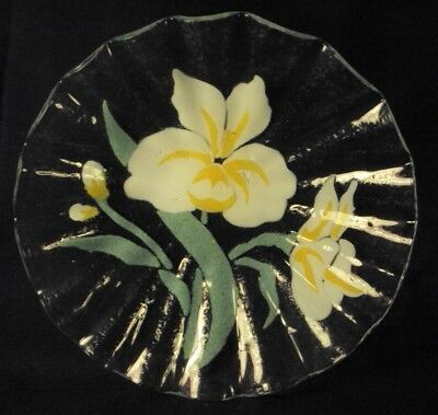 Sydenstricker glass bowl narcissus yellow 8""