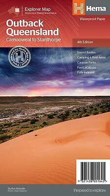 Outback Queensland 4WD Explorer Map - Hema - Scale 1:1500K   4th Edition 2013