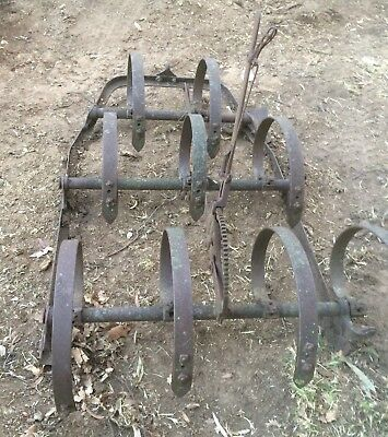 Old Horse Drawn Scarifier - Vintage Plough - Vintage Farm Machine Scarifier