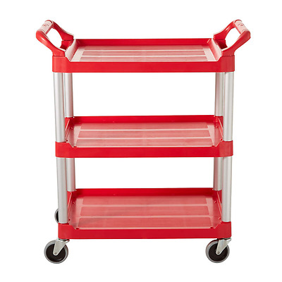 RUBBERMAID Lipped Plastic Utility Cart - FG342488RED