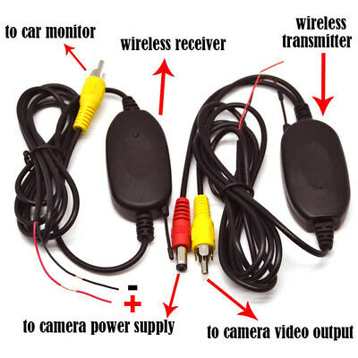 Wireless RCA Video Transmitter Receiver Kit 2.4G For Car Monitor Backup Camera