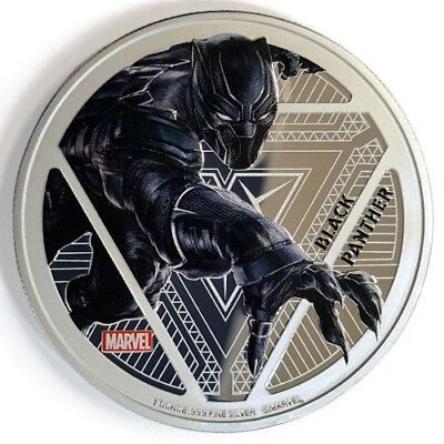 Fiji 2016 1Oz .999 Silver Marvel Black Panther Coin PROOF w/OGP, Only 3000 Color