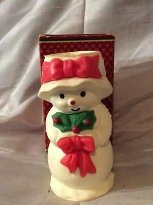 Vintage Avon MRS SNOWLIGHT CHRISTMAS BAYBERRY FRAGRANCE CANDLE IN BOX