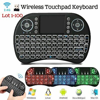 Lot 1-100 Mini Wireless Keyboard 2.4G with Touchpad for PC PS3 XBOX Android TV M