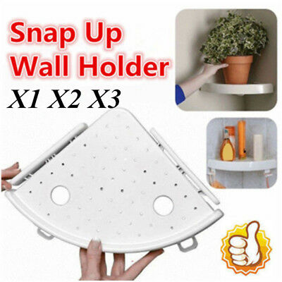Bathroom Triangular Shower Shelf Corner Bath Storage Holder Organizer Rack LOT!