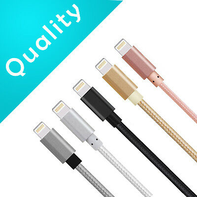 3 x 6ft. Nylon Braided Lightning USB Cable Cord Charger For Apple iPhones Xs Xr