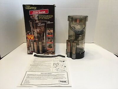Magnif Motorized Coin Bank Sorter 4603 Wrapper As Seen On TV Works! 1994