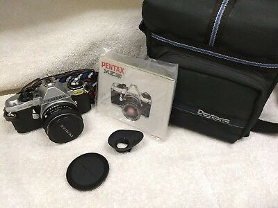 Pentax ME Super 35mm SLR film camera with 50mm lens - Works Great