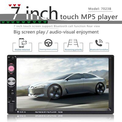 "7"" Double 2 DIN Car GPS FM Stereo Radio MP5 Player Touch Screen Bluetooth"