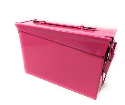 Genuine US Military 30 Cal Ammo Can M19A1 7.62mm .30 Caliber Pink