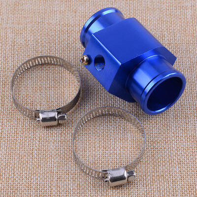 Blue 32mm Water Temp Gauge Joint Pipe Sensor Radiator Hose Adapter For Most Car