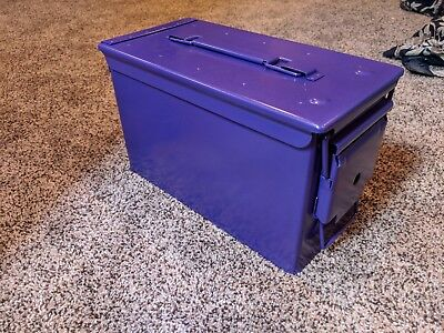 Genuine US Military 50 Cal Ammo Can M2A1 5.56mm Purple
