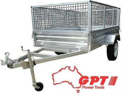 6X4 Box Trailer & Tipper | 900Mm Cage | Galvanised With Trailer Cover