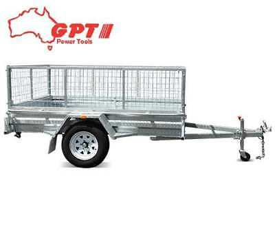 8x5 BOX TRAILER & TIPPER | 600MM CAGE | GALVANISED WITH 14 INCH WHEEL & BRACKET