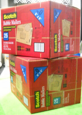 50 qty 3m scotch bubble mailers 6 x 9 pack size 0 padded mailing