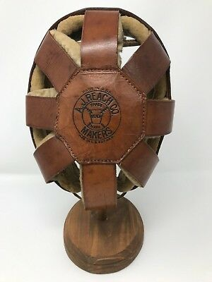 Antique REACH 8 Spoke Leather Football Helmet - 1910 - 1915.  Rare and Stunning!