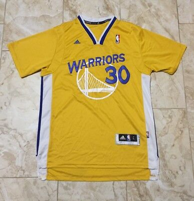 Adidas Steph Curry Golden State Warriors Sleeve Swingman Jersey Size Men s  Large 904ce3900