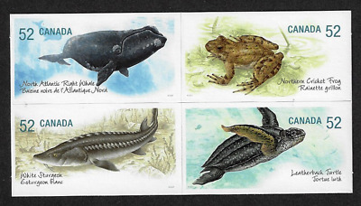 Canada Stamps — Block of 4 — Endangered Species : Water Creatures #2233b — MNH