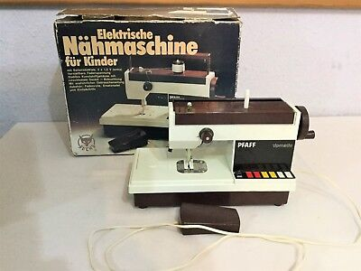 Retro PFAFF TIPMATIC ELECTRIC CHILDREN SEWING MACHINE BOXED Problem With Motor