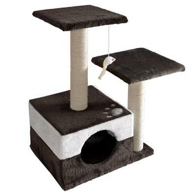 i.Pet 70cm Cat Scratching Tree Gym Post - White and Dark Grey