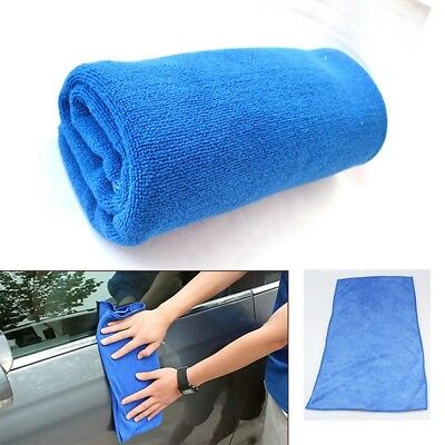 2X Absorbent Microfiber Car Home Kitchen Washing Clean Cloth Blue Cleaning Towel