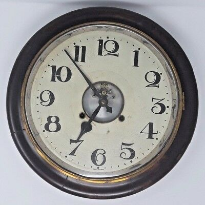 Working 1930 Made in Japan Visible Escapement Wall Clock w/ Key Pre-War SEIKOSHA