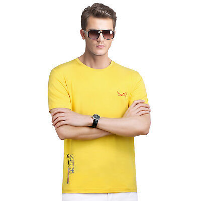 Bruce Shark Men Short Sleeve Summer Modal Crewneck T-Shirt Loose Tops DT1279 BU