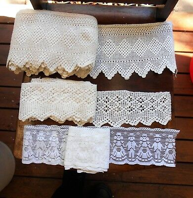 Antique wide crochet lace edging 5+ Metres (6 yards)