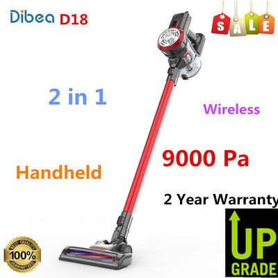 Dibea D18 2 in 1 9000Pa Cordless Handheld Stick Vacuum Cleaner 550ML Dust Tank