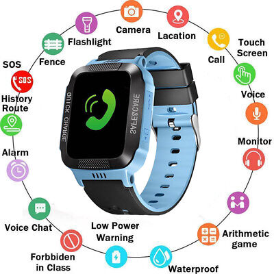 For Android IOS Anti-lost Kids Safe GPS Tracker SOS Call GSM Smart Watch Phone