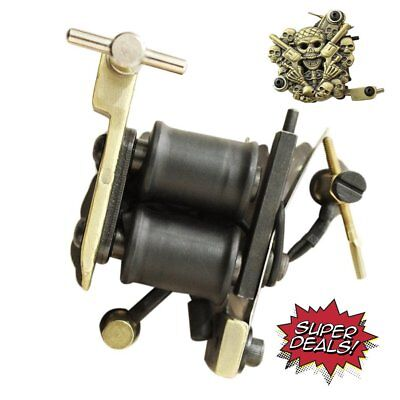 NEW Pro Rotary Motor Tattoo Machine Gun Set for Liner / Shader - Black Color MA