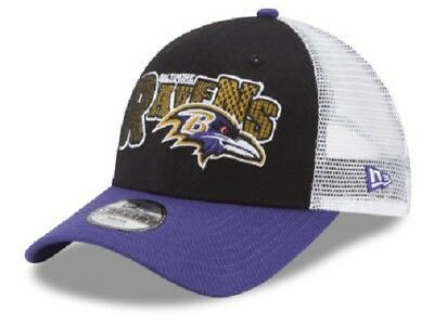 new style 47606 1dd1a Baltimore Ravens NFL New Era 9Forty Youth Trucker Snapback Hat