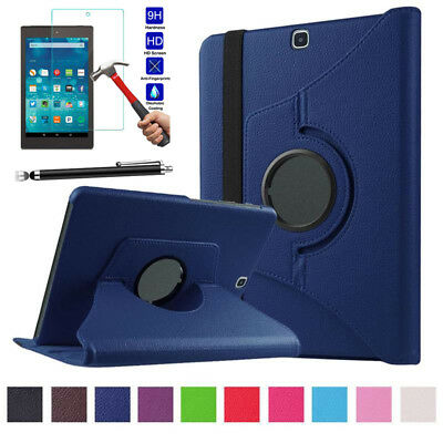 360° Rotating Leather Folio Stand Case Skin For Amazon Kindle fire HD 8 2017 8.0