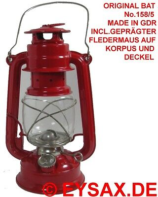Original DDR BAT 158/5 Petroleumlampe Sturmlaterne, Fledermaus Sammlerstück