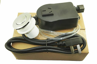 Chrome Sink Top Air Switch Kit, Garbage Disposal Part Built-Out Adapter Switch