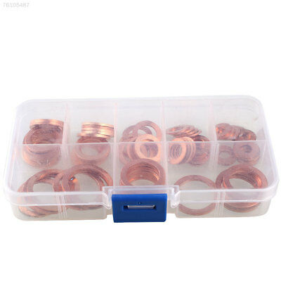 991D 80Pcs Assorted Solid Copper Engine Washer Kit Metal Sump Plug Kit Kits