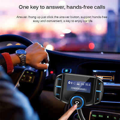 FM Transmitter Bluetooth 3.0 Charger Handsfree Car Kit 1.65''MP3 Support Siri