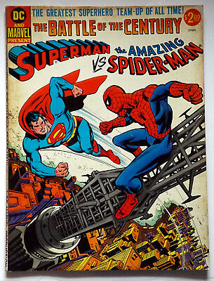 Dc And Marvel Treasury Comics Superman Vs. Amazing Spider-Man 1976 Vg Stan Lee