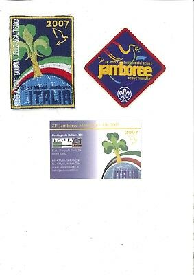 World Scout Jamboree 2007 - Participant and Italian contingent patches