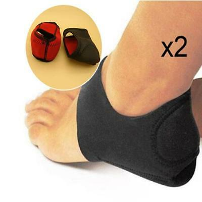 1 Pair Foot Heel Ankle Wrap Pads Cushion Plantar Fasciitis Support Pain Relief O