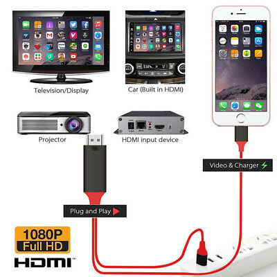HDMI Mirroring Smart Cable HDTV AV Phone to TV Adapter For iPhone/iPad/Android