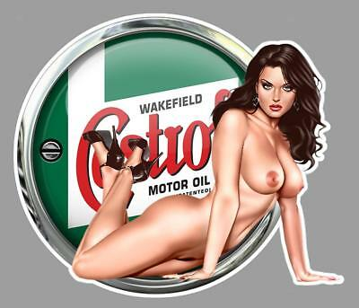 CASTROL PIN UP right Sticker droite