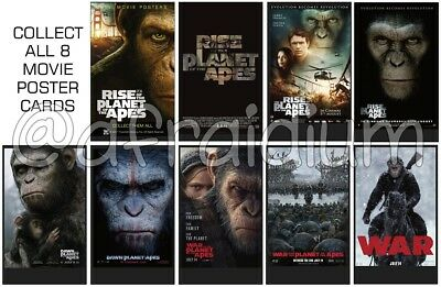 New Planet of the Apes 2011-17 - Mini Movie Posters - Complete Set 8 cards+1.